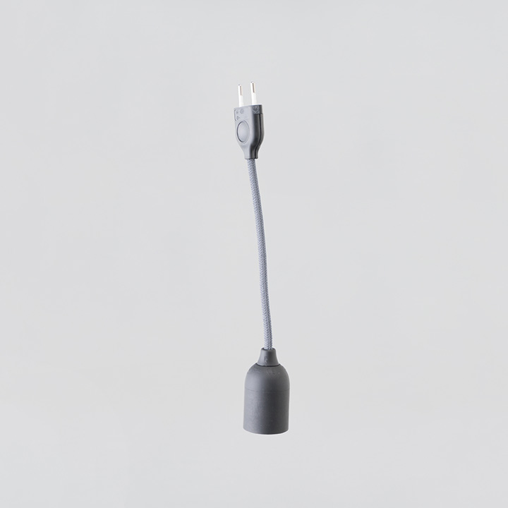 Linus Stromkabel grau 25 cm