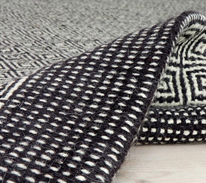 Teppich Beta schwarz/weiß