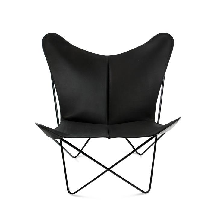 Trifolium Chair Leder schwarz