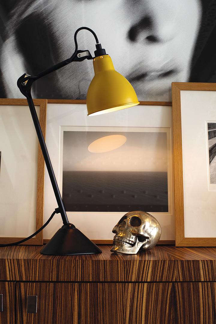 Lampe Gras Nr. 205 black/yellow