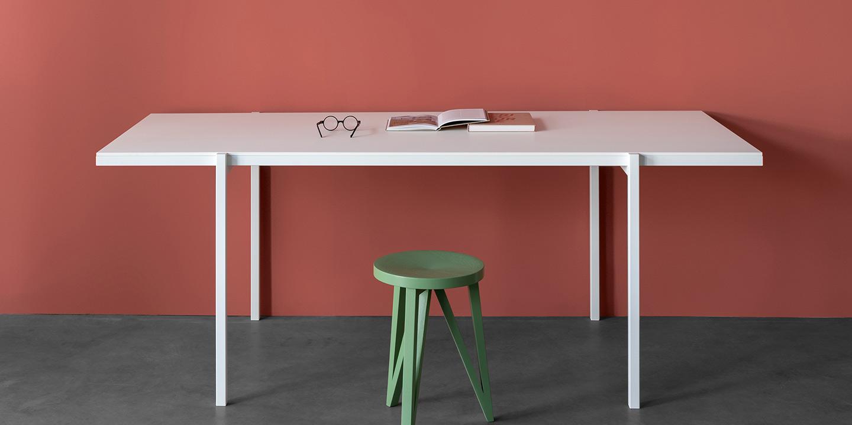 DL5 Neo Tisch, HPL weiß
