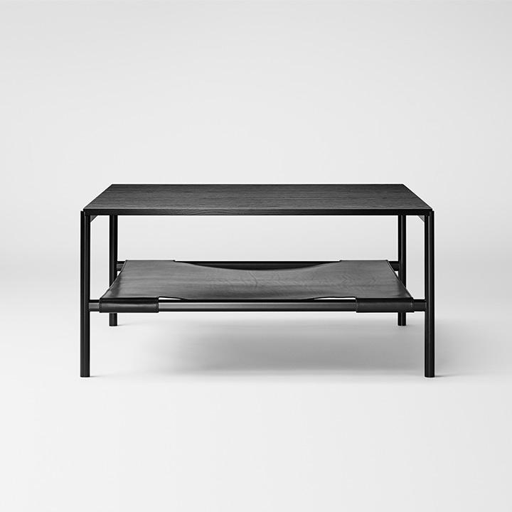 Mies Lounge Tisch, Esche schwarz