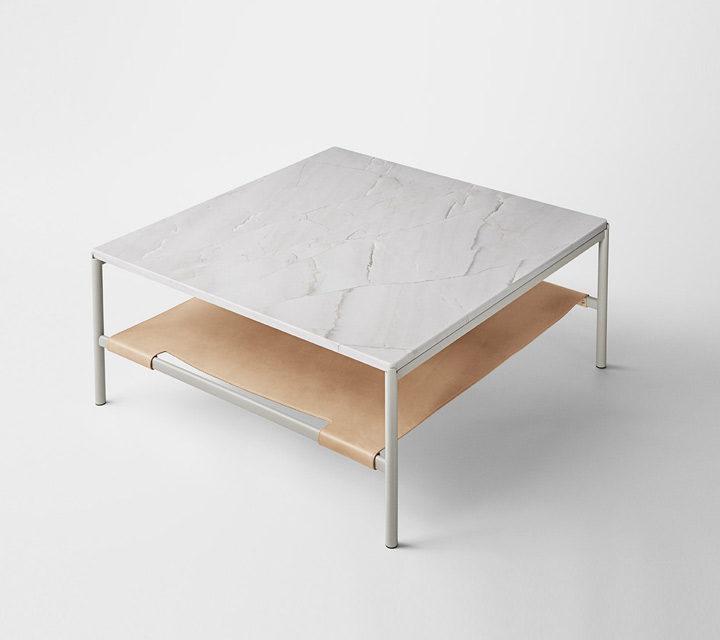 Mies Lounge Tisch, Marmor grau
