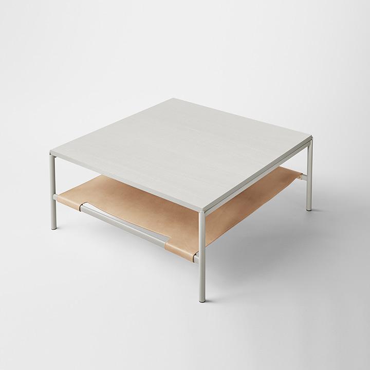 Mies Lounge Tisch, Esche grau