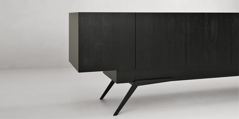 Leno Side Cabinet oak black