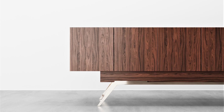 Leno Side Cabinet walnut