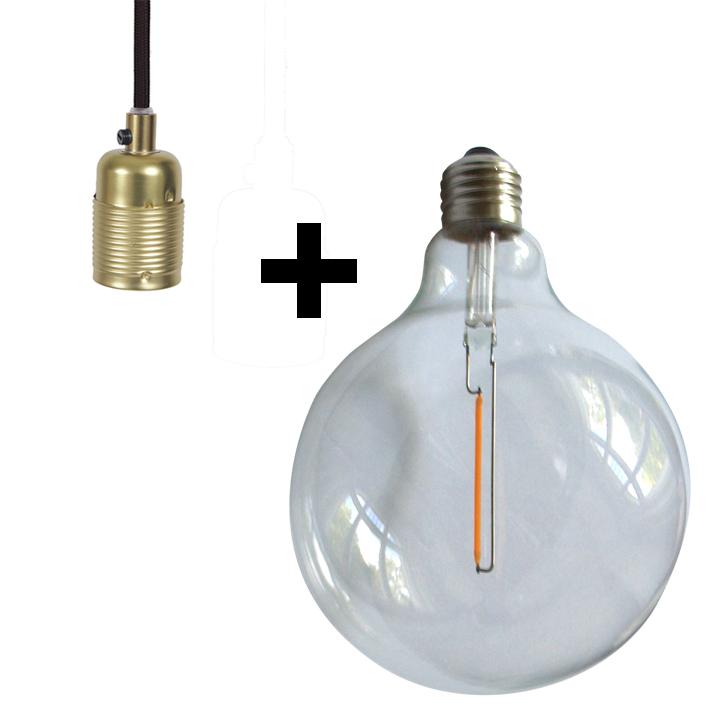 Frama Pendant mit Globe LED